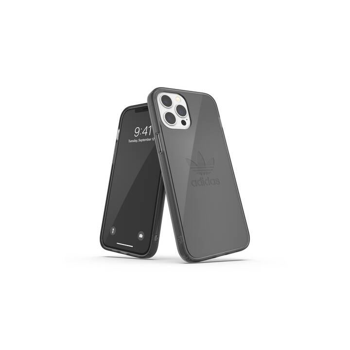 ADIDAS Backcover Protective Clear (iPhone 12 Pro Max, Nero, Transparente)