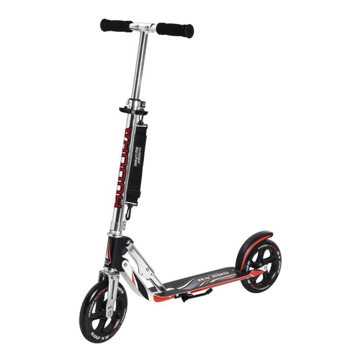 HUDORA Monopattino Big Wheel RX 205 (Nero, Rosso)