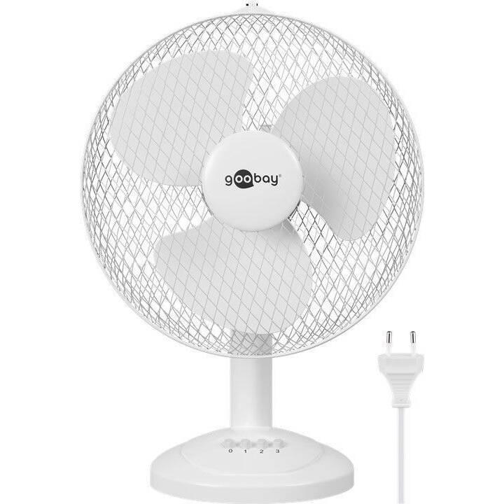 TECHLY Ventilateur de table Goobay 12 (Blanc, 40 W)