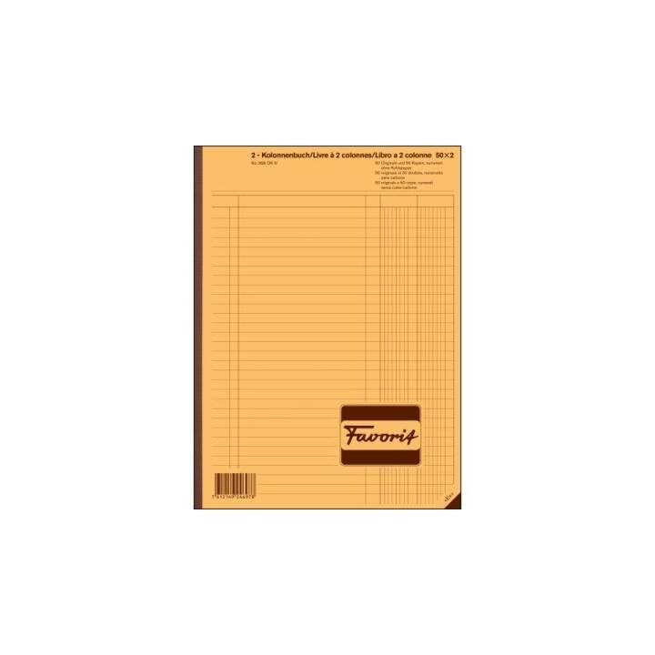 Cahier FAVORIT SPA, 2 colonnes, blanc/blanc, D/F/I