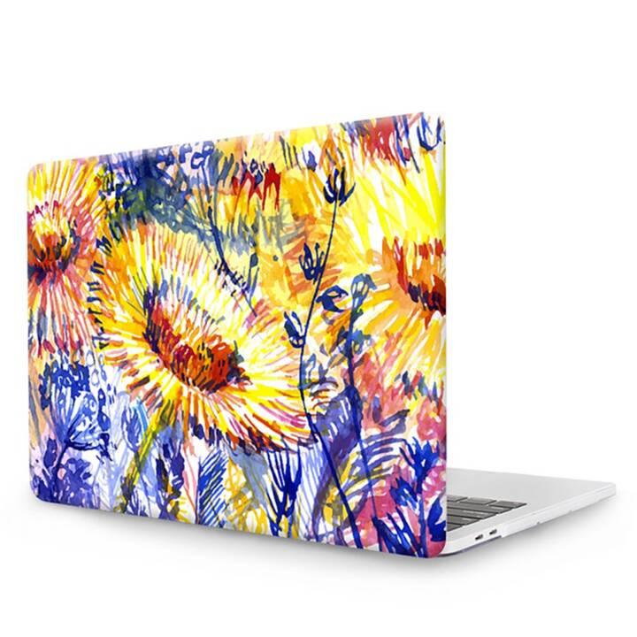 """EG MTT Copertina per computer portatile con tastiera, protezione antipolvere, penna a sfera per MacBook Pro 13"""" Touch Bar - Fiori gialli"""