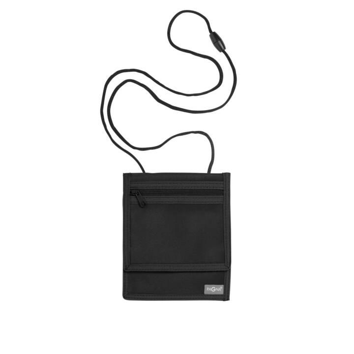 PAGNA Pochette tour de cou XL (Noir, Nylon)