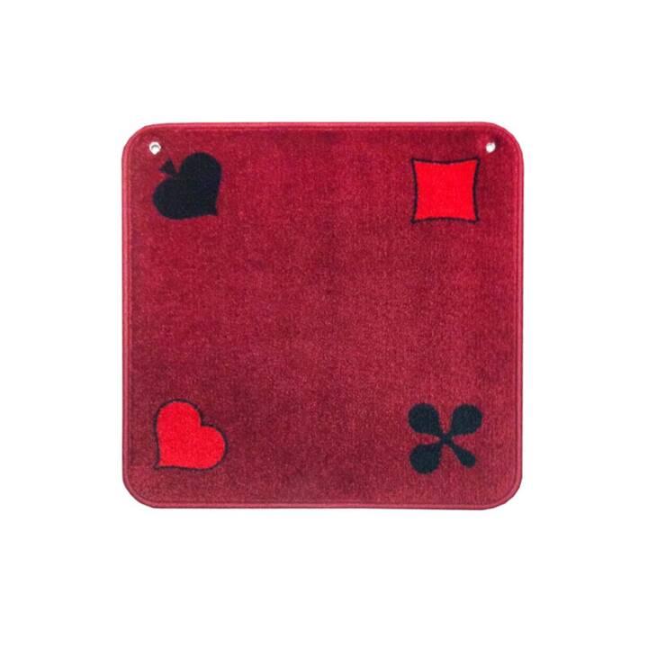 AGMÜLLER Tapis de Jass (Rouge, 1 pièce)