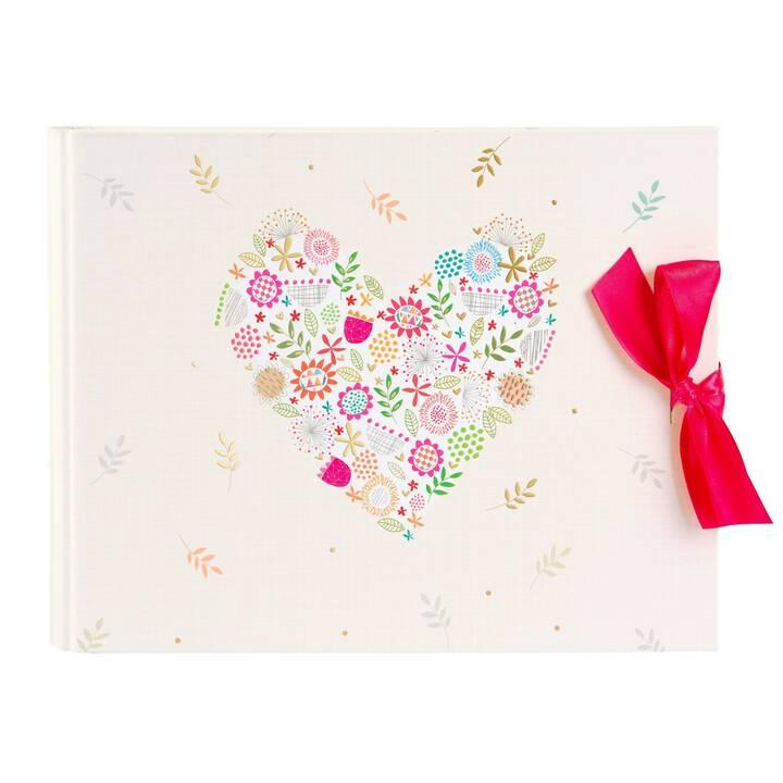 GOLDBUCH Flowers Heart Album fotografico (Multicolore)