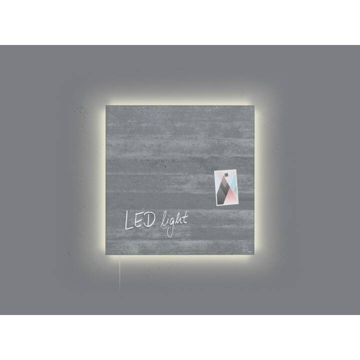 SIGEL Pannello di vetro LED artverum cemento a vista