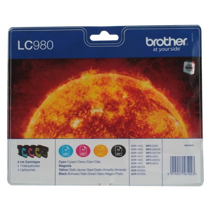 BROTHER LC980VALBP (Schwarz, Gelb, Cyan, Magenta, 4 Stück)