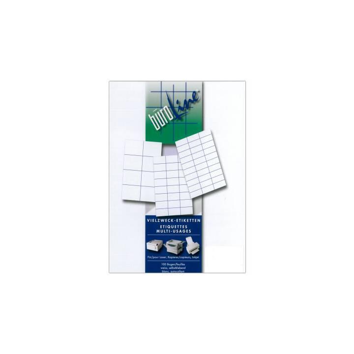 BÜROLINE Labels 6x33 blanc 2400 pièces