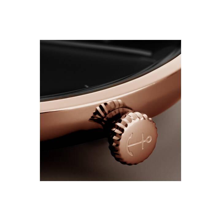 KAPTEN & SON Heritage Black Brown Leather (Montre analogique, 40 mm)