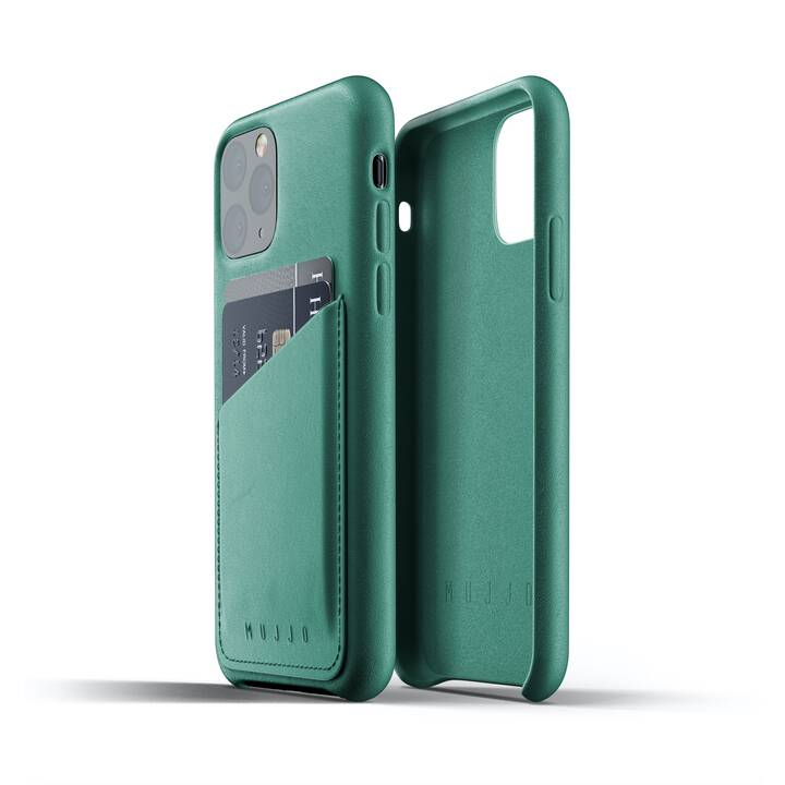 MUJJO Backcover Wallet Case (iPhone 11 Pro, Grün)