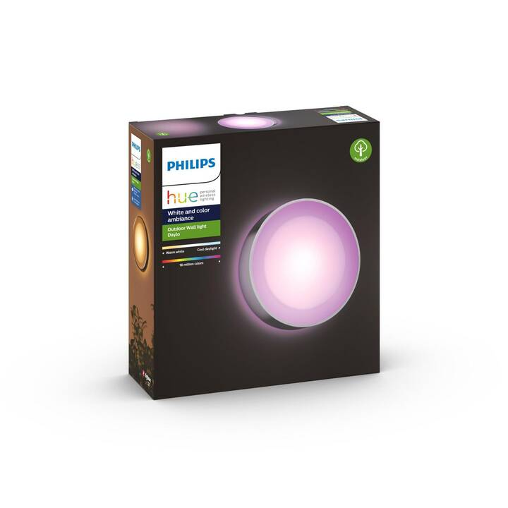 PHILIPS HUE Luminaire mural Daylo (LED incorporé, 15 W, Argent)