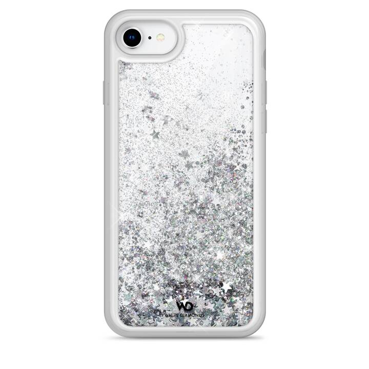 WHITE DIAMONDS Backcover Sparkle (iPhone 8, iPhone 7, iPhone 6, iPhone 6s, Argento)
