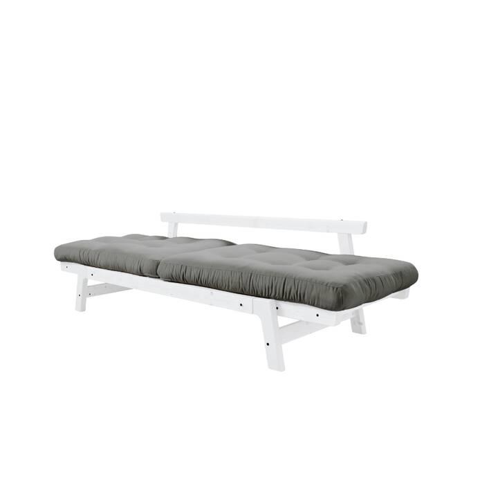 KARUP DESIGN Step Divano letto (Cotone, Poliestere, Bianco, Grigio, 158 cm x 74 cm)