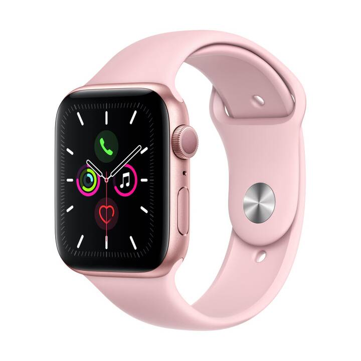 APPLE Watch Series 5 GPS Gold/Pink Sand (44 mm, Alluminio, Silicone)