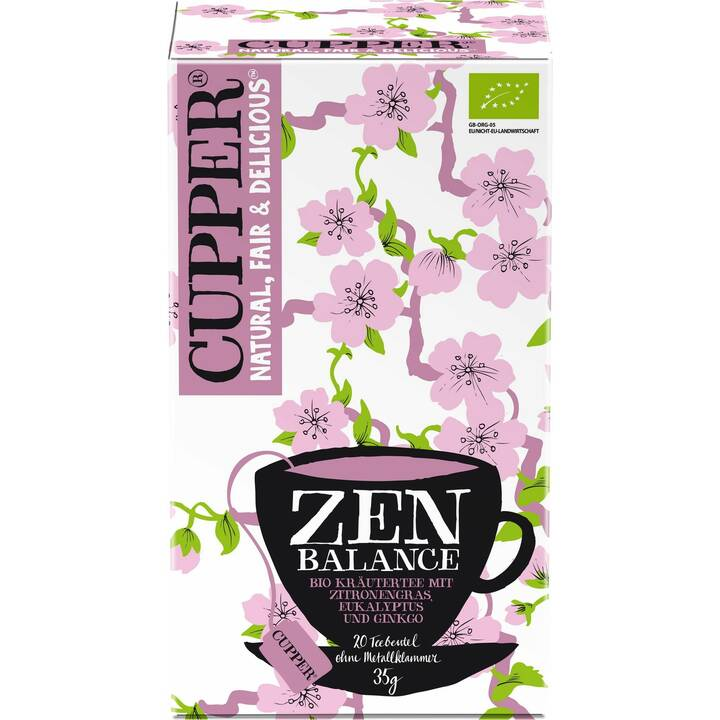 CUPPER Zen Balance Tè d'erbe (Bustina di tè, 20 pezzo)