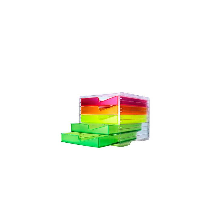 STYRO styroswingbox NEONline 5 Schubladen multicolor neon