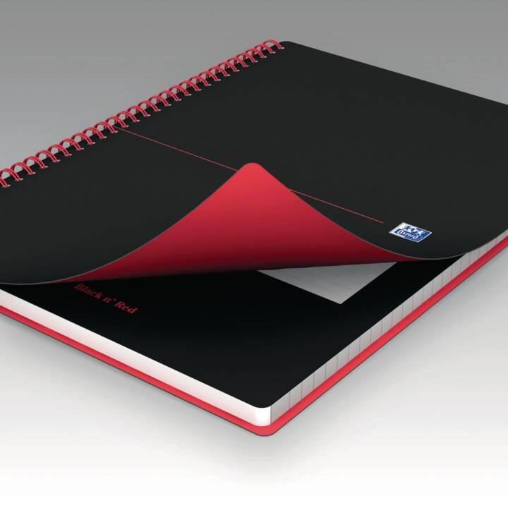 OXFORD blocco per notebook Collegeblock, A5, quadrato, nero rosso, nero