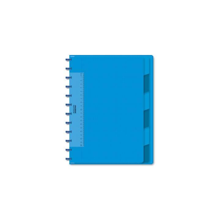 ADOC Notizheft A4, kariert, blau
