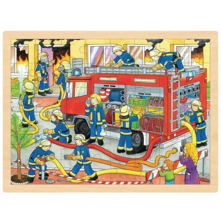 GOKI vigili del fuoco dispiegamento dei vigili del fuoco puzzle di intarsio