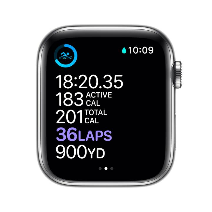 APPLE Watch Series 6 GPS + Cellular (44 mm, Edelstahl, Milanaise)