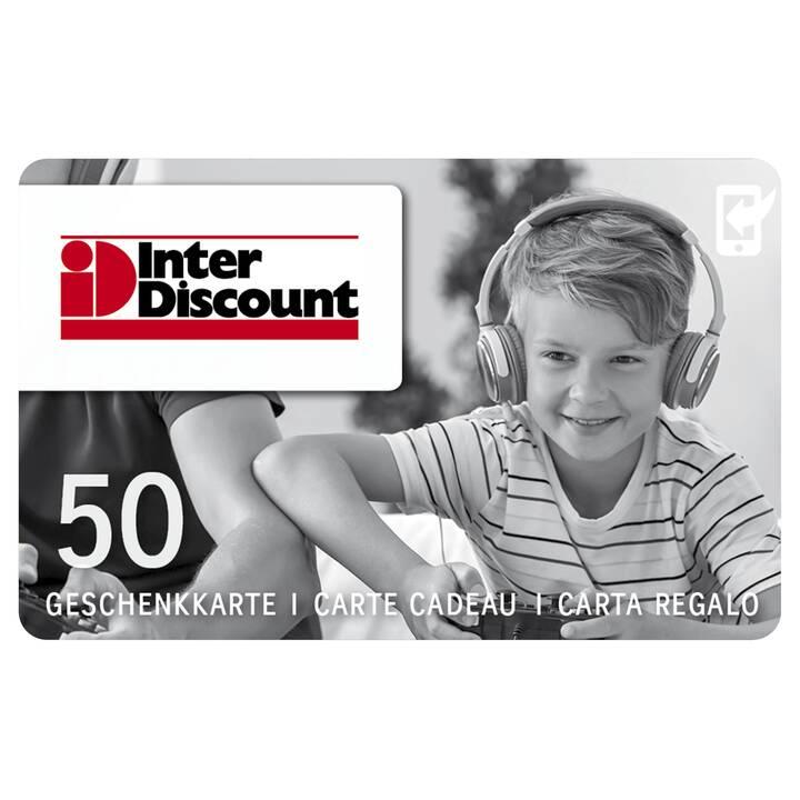 Interdiscount Geschenkkarte CHF 50.-