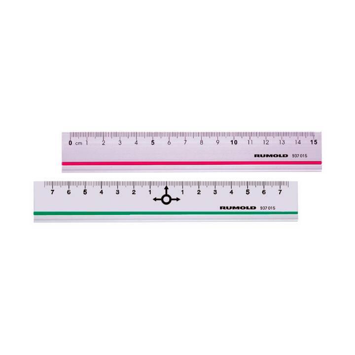 RUMOLD Alulineal 15cm divisé