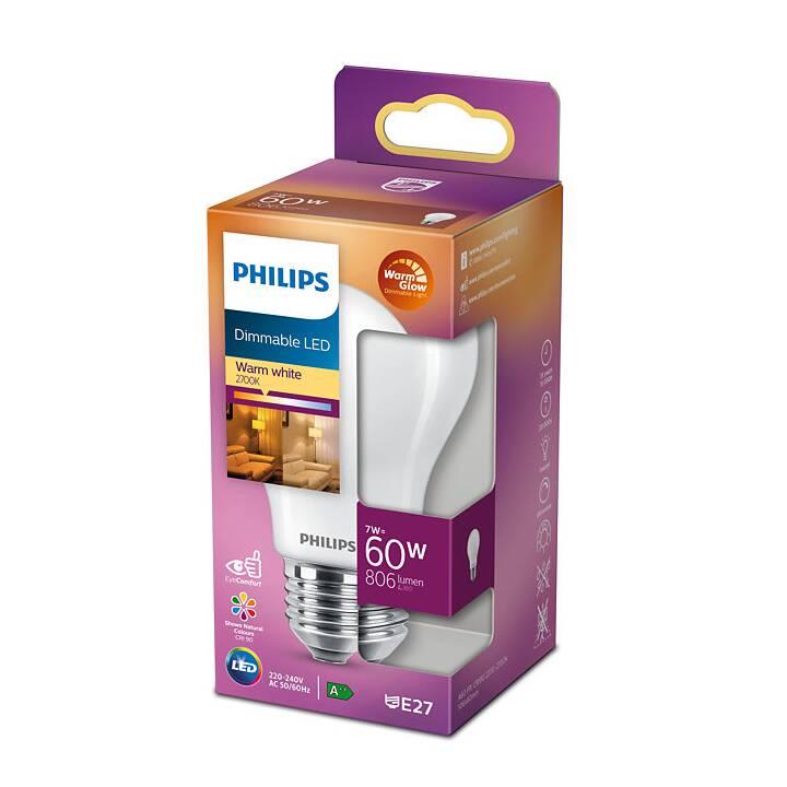 PHILIPS LED Birne (E27, 7 W)