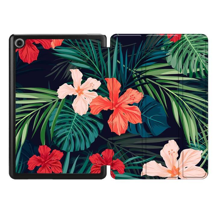 "EG MTT Housse pour HUAWEI MediaPad M5 Lite 8"" 2019 - plantes tropicales"