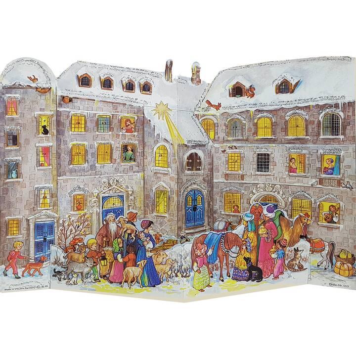 SELLMER Calendari dell'avvento di illustrazione At The Castle (26.5 cm x 35.5 cm)