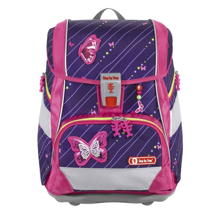 STEP BY STEP Schulranzen Shiny Butterfly (19 l, Mehrfarbig)