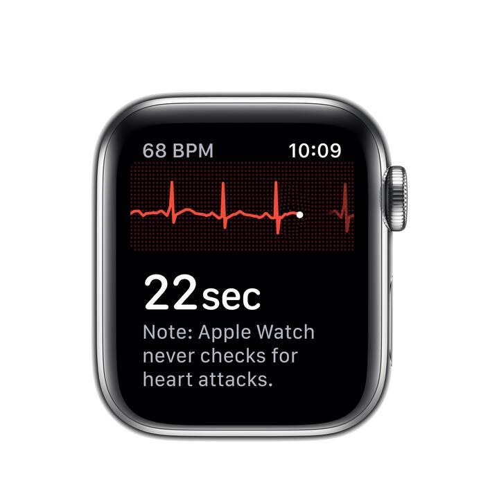 APPLE Watch Series 5 GPS + LTE Edelstahl/Edelstahl (40 mm, Edelstahl, Edelstahl)