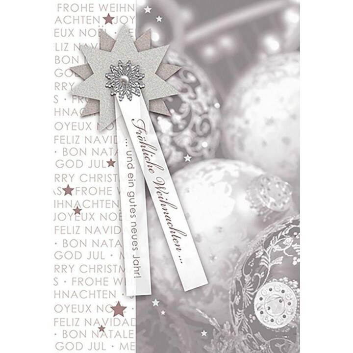 PERLEBERG Weihnachtskarte (Weihnachten / Advent, Silber)