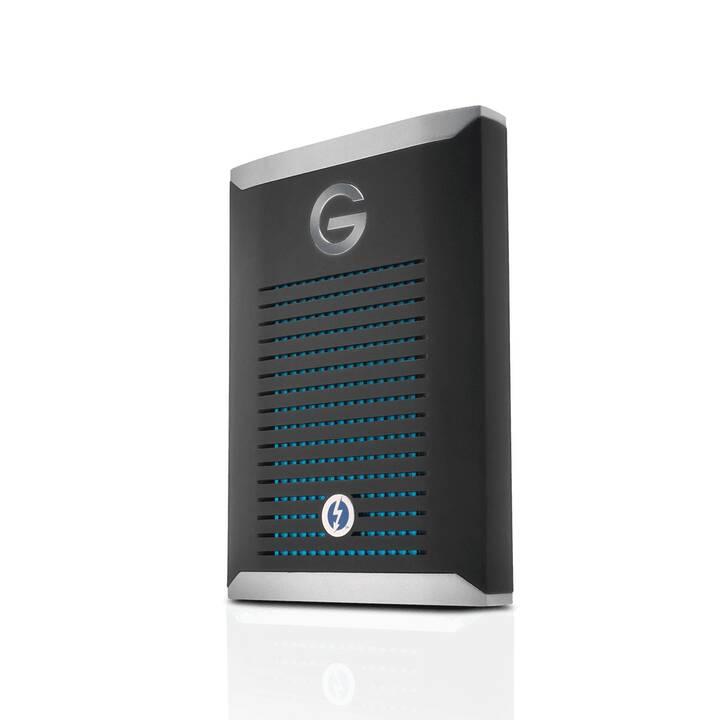 G-TECHNOLOGY G-DRIVE Mobile Pro (USB Typ C, 2000 GB, Silber, Schwarz)