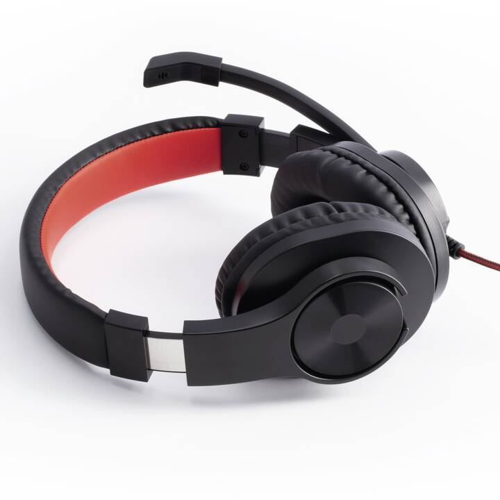 HAMA HS-USB400 (Over-Ear, Rosso, Nero)