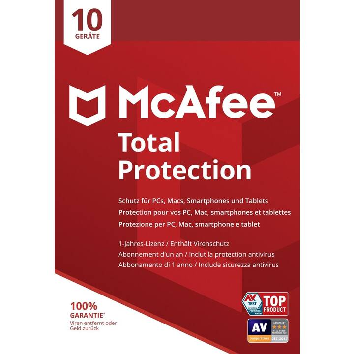 MCAFEE Total Protection (Licenze volume, Italiano, Tedesco, Francese)