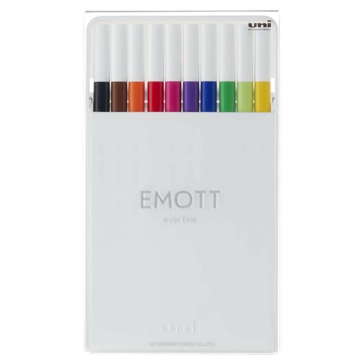 UNI Emott Filzstift (Mehrfarbig, 10 Stück)