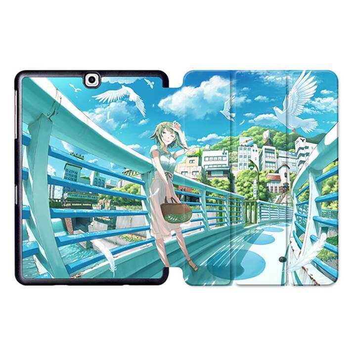"""EG MTT Tablet Tasche mit Smart faltbare Abdeckung für Samsung Galaxy Tab S2 9.7 """"- Comics"""