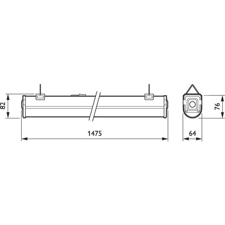 PHILIPS Professional BN124C LED64S/840 PSU TW1 L1500 (Blanc)