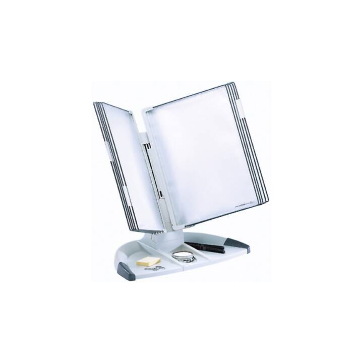 T-DISPLAY Supporto da tavolo Tarifold A4 grigio