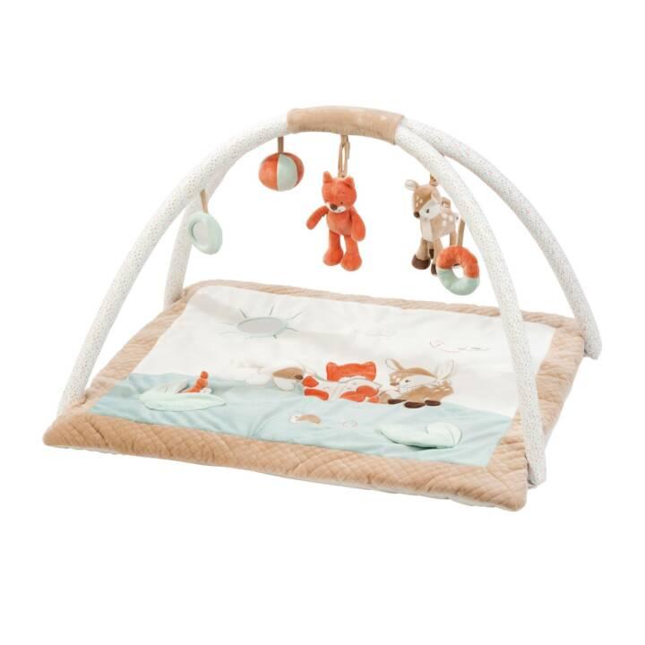 NATTOU Palestrine & copertine gioco Fox e cervi (Arancione, Bianco, Blu, Beige)