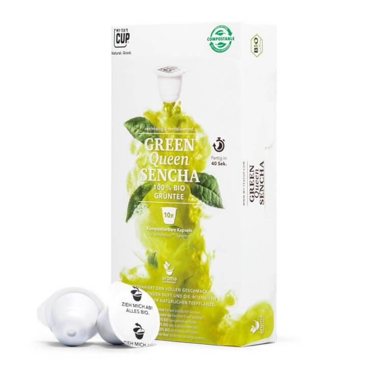 MY TEACUP Green Queen Sencha Grüntee (Kapseltee, Nespresso, 10 Stück)