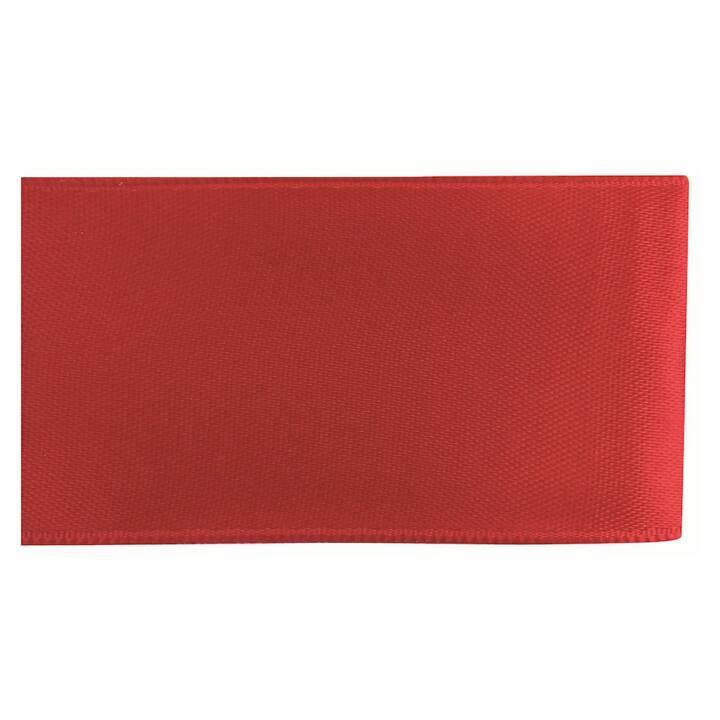 GLOREX Nastro decorativo (Rosso, 4 cm x 5 m)