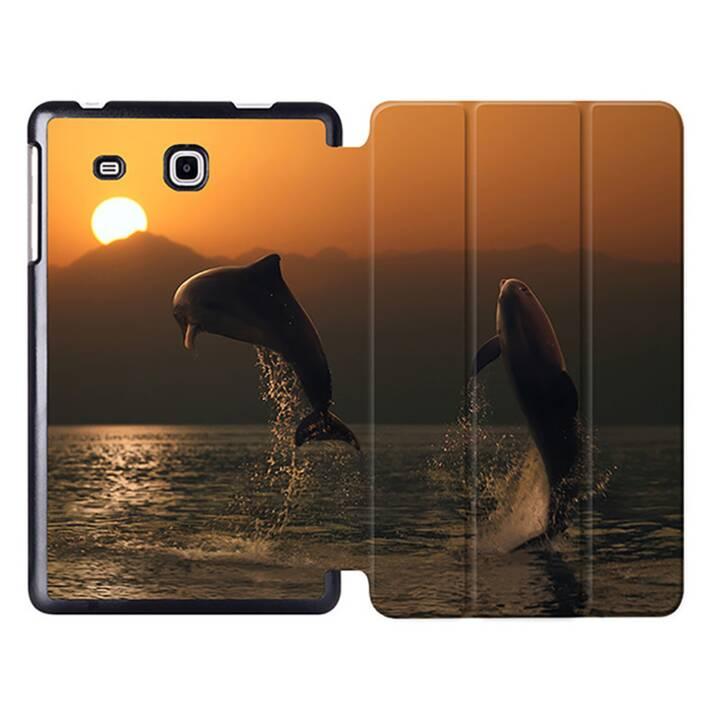 """EG MTT Tablet Tasche mit Smart faltbare Abdeckung für Samsung Galaxy Tab A A6 7 """"- Delfine"""