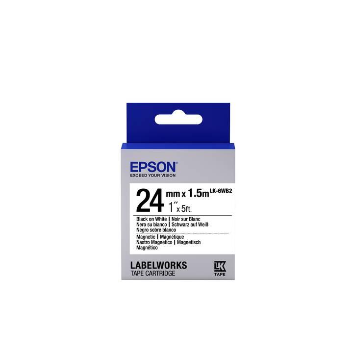 EPSON LabelWorks LK-6WB2 Etikettenkassette (1 Stück)