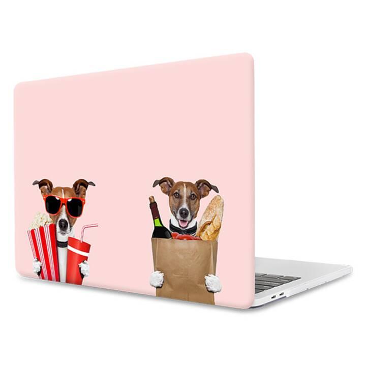 """EG MTT Housse pour ordinateur portable pour Macbook Pro 15"""" Touch Bar - Pink Funny Dogs"""