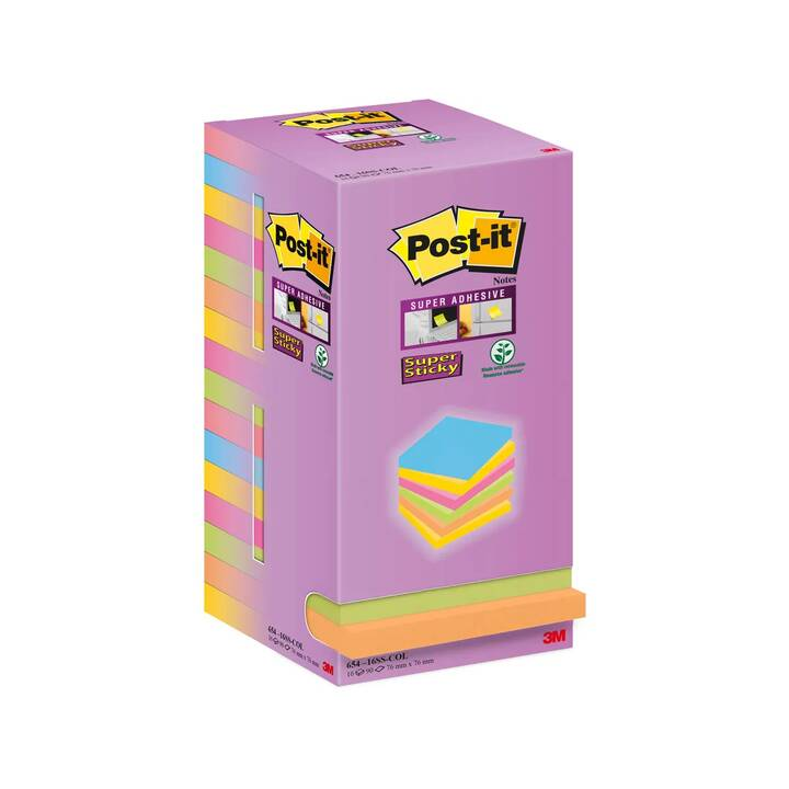 POST-IT Notes autocollantes Super Sticky Tower (Multicolore)
