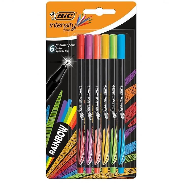 BIC Intensity Traceur fin (Multicolore, 6 pièce)