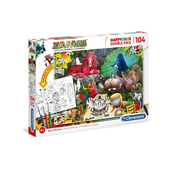 CLEMENTONI Animaux Puzzle (104 pièce)
