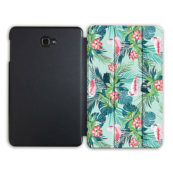 """EG MTT Sacoche à comprimés avec housse Smart pliable pour Samsung Galaxy Tab A 10.1"""" (2016) - Flamingo"""