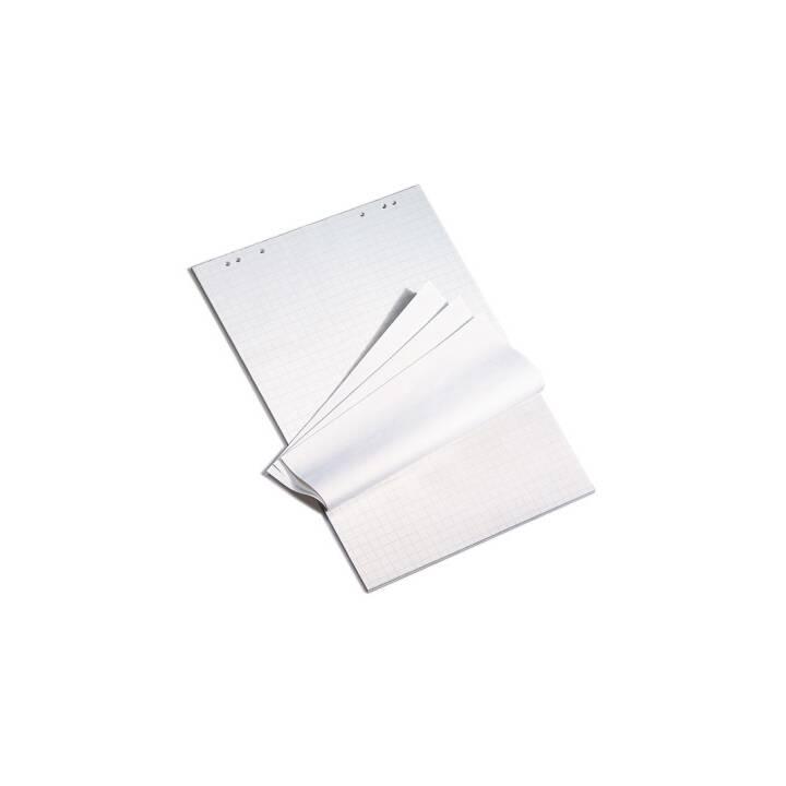 Bloc de tableau à feuilles mobiles PAPYRUS, quadrillé 2,5 cm, 5 x 20 feuilles