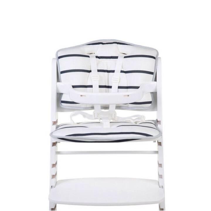 CHILDHOME Coussin d'assise + réducteur pour Lambda 2 Blanc/Bleu rayé